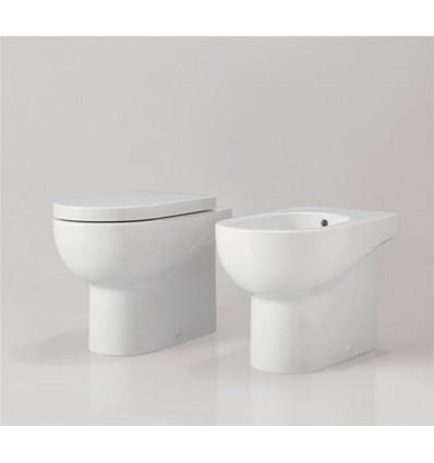 AZZURRA NUVOLA FILO MURO A PAVIMENTO WC+BIDET+COPRIVASO TERMOINDURENTE